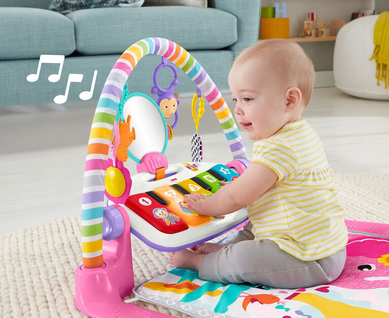 Fisher-Price Deluxe Kick & Play Piano Gym Pink - English Edition