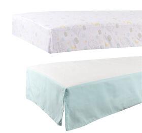 Disney Baby Fitted Crib Sheet & Crib Ruffle- Dumbo
