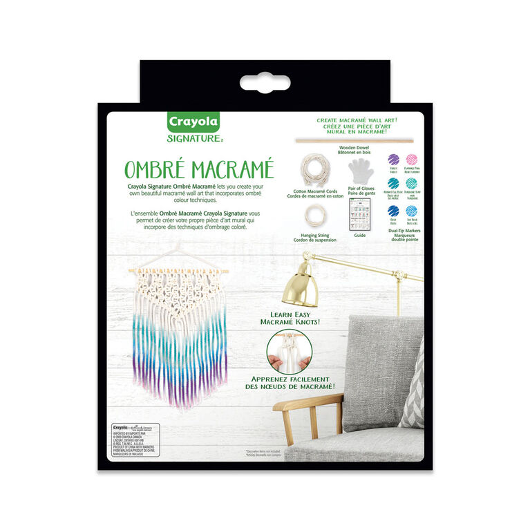 Crayola Signature Ombré Macramé Wall Art Kit