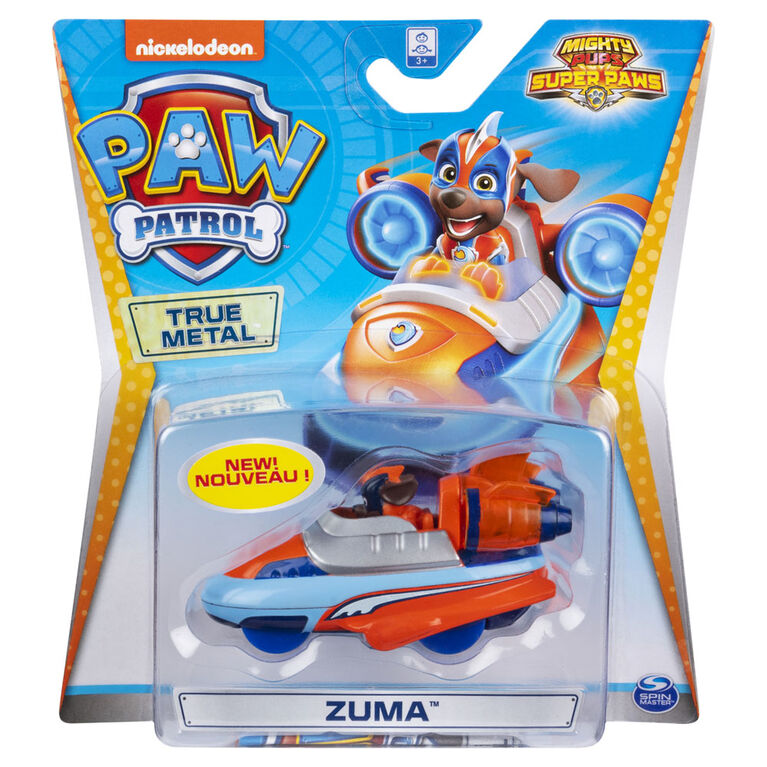 PAW Patrol, True Metal Mighty Zuma Super PAWs Collectible Die-Cast Vehicle, Mighty Series 1:55 Scale