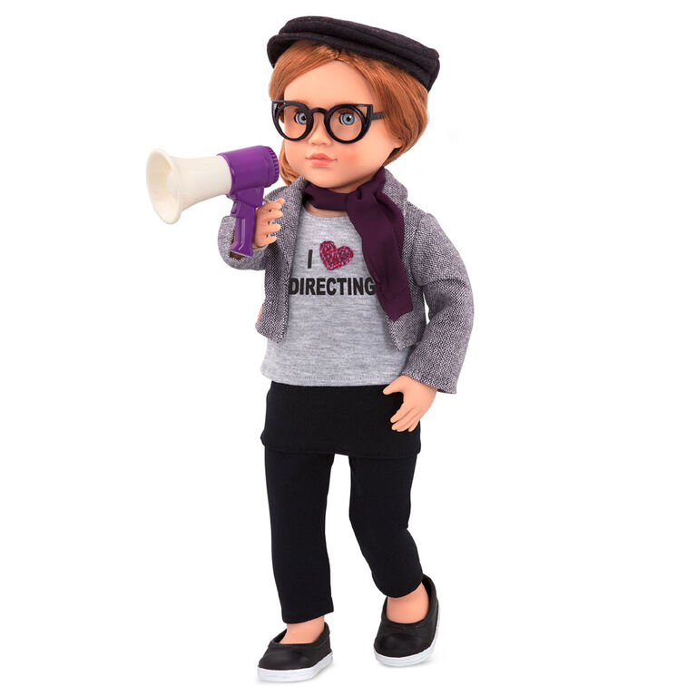 Our Generation, Mienna, 18-inch Posable Movie Director Doll
