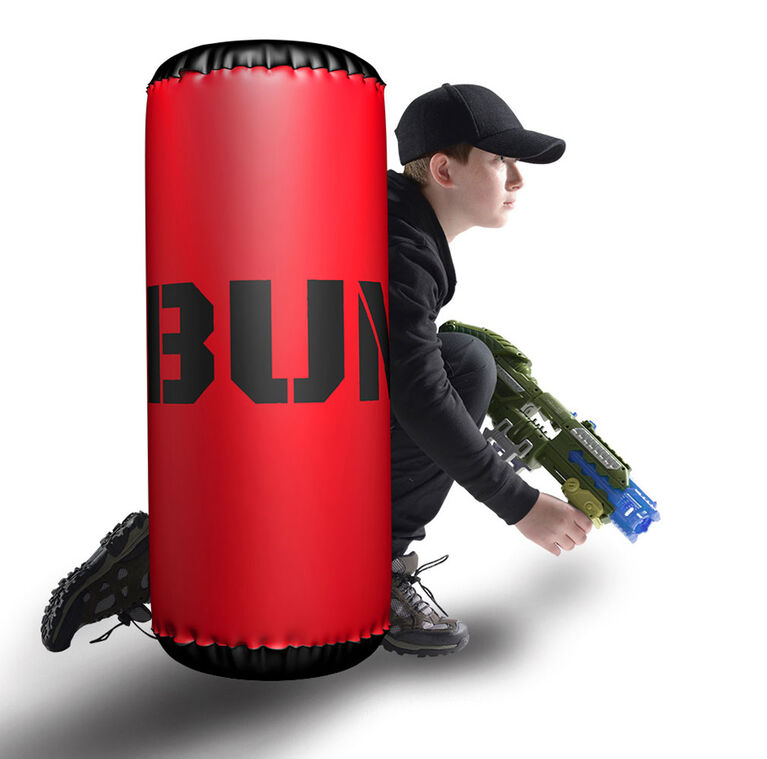 BUNKR Inflatable Red Barrel for Blaster Battles