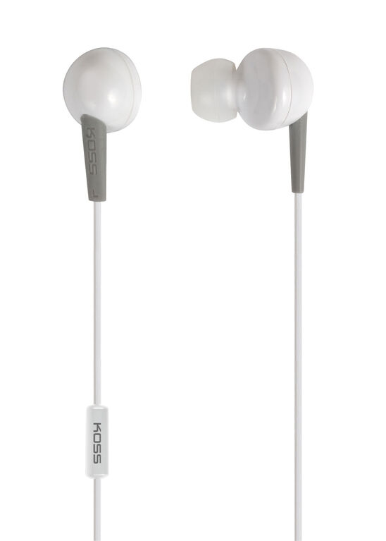 Koss Earbud KEB6 in Ear w/Enhanced Driver & Mic White