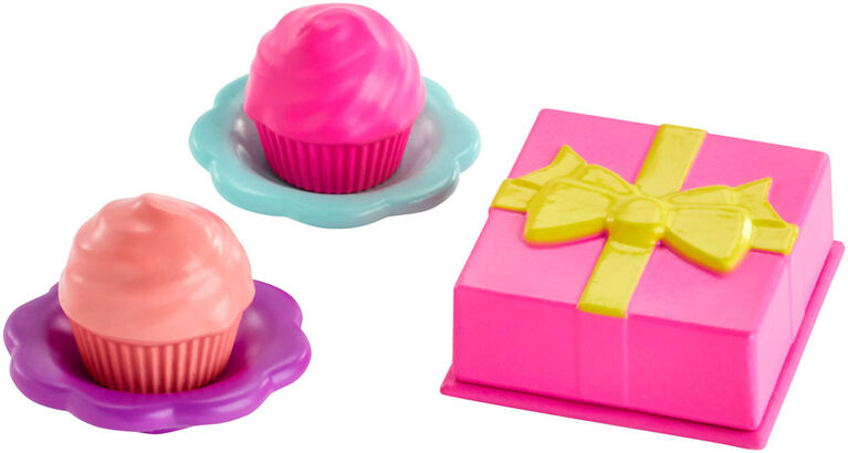 Coffret d'accessoires Barbie Club Chelsea, thème de fête d'anniversaire
