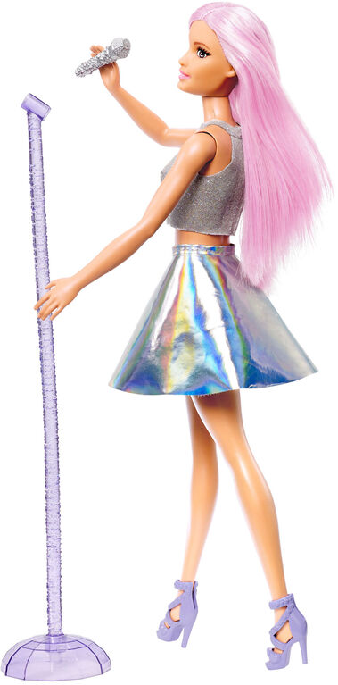 Barbie Pop Star Doll with Microphone
