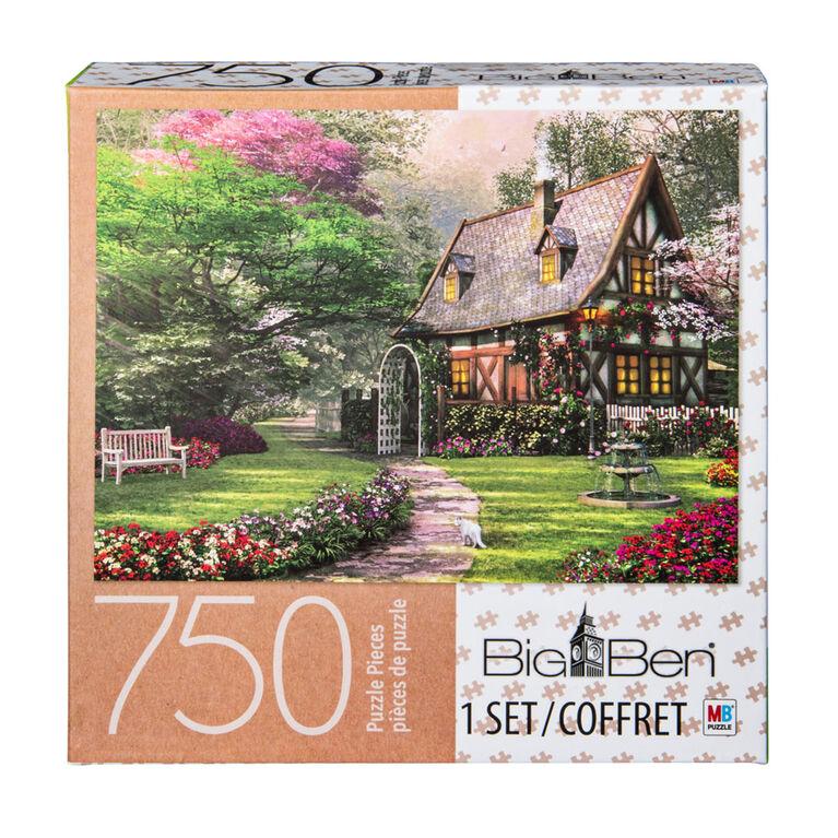 Big Ben - 750-Piece Adult Jigsaw Puzzle - Misty Lane Cottage