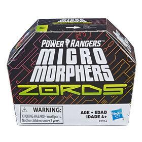 Figurines jouets de collection Zords Power Rangers Micro Morphers Série 1 pour cadeau et collection.
