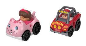 Fisher-Price Little People Wheelies 2-Pack, Dune Racer & Koby
