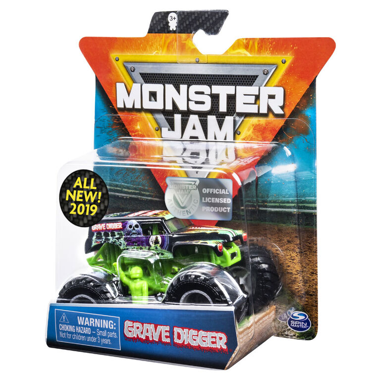 Monster Jam, Official Grave Digger Monster Truck, Legacy Trucks Series, 1:64 Scale - Styles May Vary