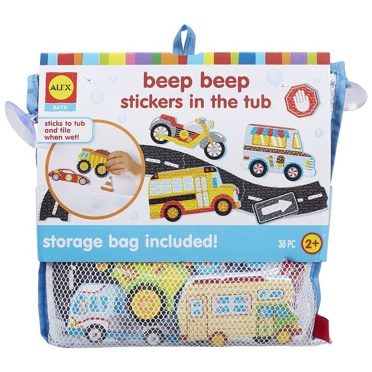 Beep Beep Stickers In The Tub
