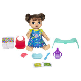 Baby Alive Happy Hungry Baby Brown Straight Hair