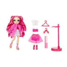 Rainbow High Stella Monroe - Poupée-mannequin fuchsia (rose vif) avec 2 tenues complètes à agencer et associer
