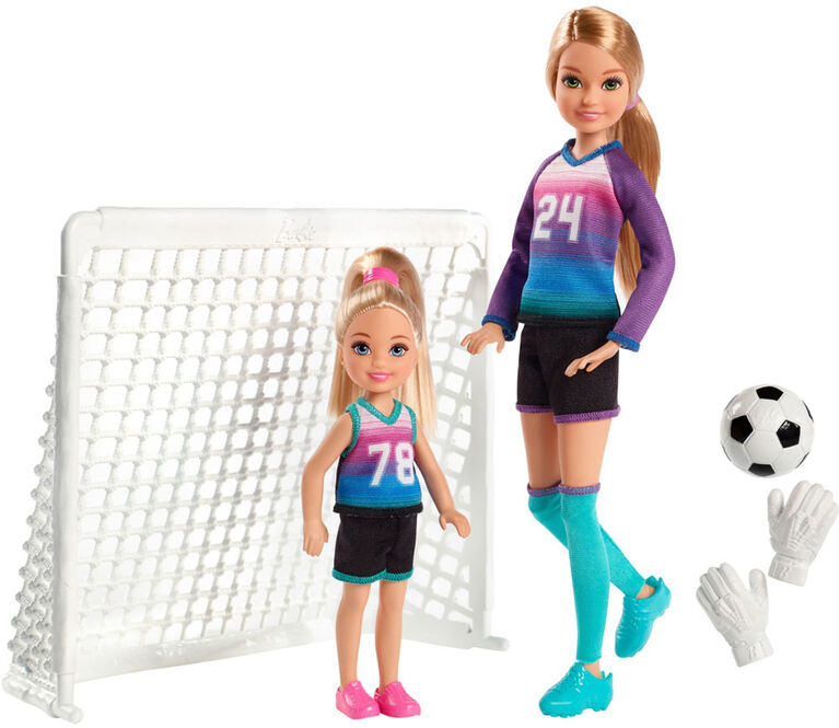Barbie Team Stacie and Chelsea Soccer Set