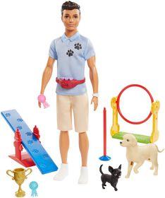 Coffret de jeu Ken Dresseur de chiens avec poupée et accessoires