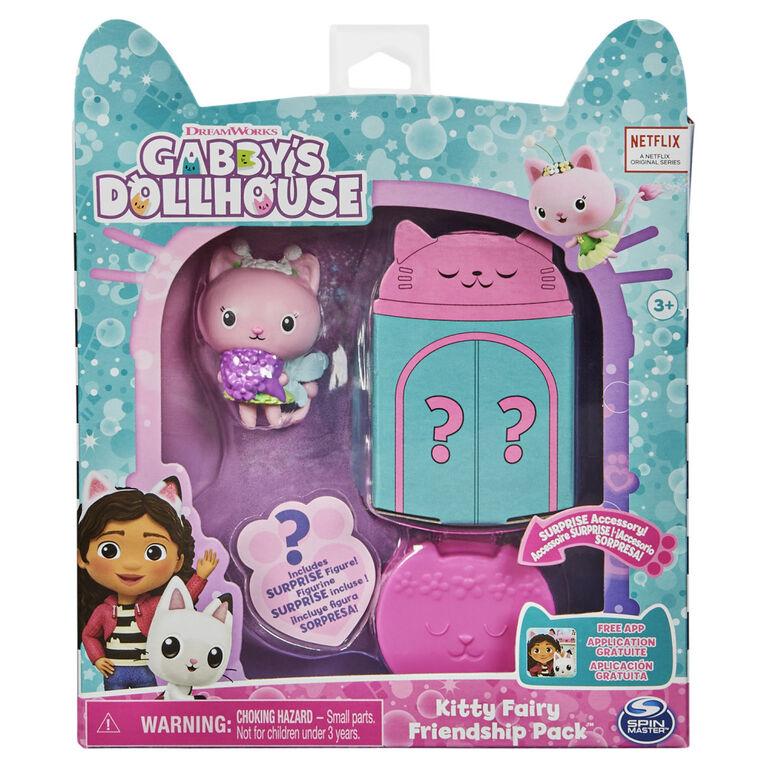 DreamWorks, Gabby's Dollhouse, Friendship Pack avec Kitty Fairy, figurine et accessoire surprises