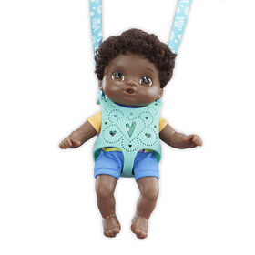 Littles by Baby Alive, Carry 'n Go Squad, Little Theo Black Curly Hair Boy Doll