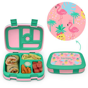 Bentgo Kids Prints Leak-Proof, 5-Compartment Bento-Style Kids Lunch Box - BPA-Free and Food-Safe Materials - 2020 Collection - Tropical - Édition anglaise
