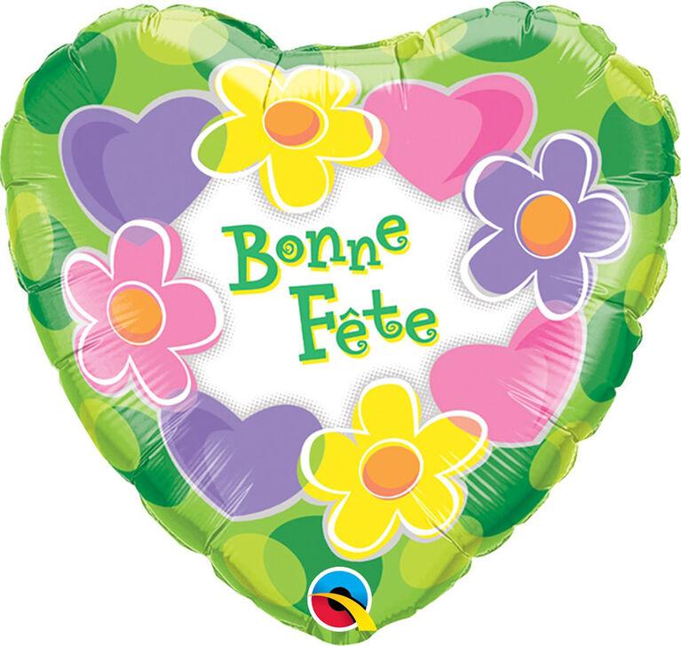 "Qualatex Bonne Fete 18"" Foil Balloon"