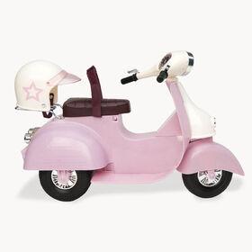 Ride In Style Scooter, Our Generation, Scooter pour poupées de 18po - rose