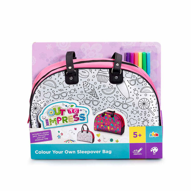 Out To Impress - Trousse Colour Your Own Sleepover Bag - Notre exclusivité