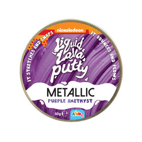Nickelodeon - Pâte Liquid Lava Putty Metallic - Purple Amethyst (mauve) - Notre exclusivité