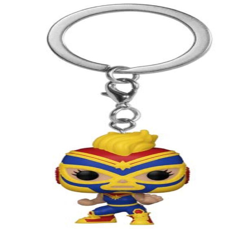 Funko POP! Keychain: Marvel Luchadores - Captain Marvel