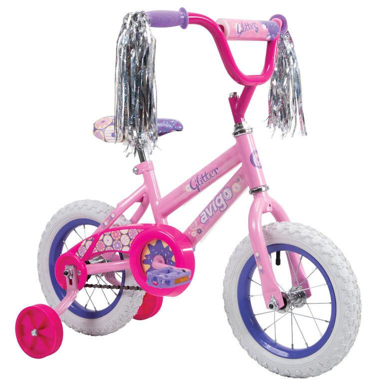 Avigo Glitter Bike, Pink - 12 inch