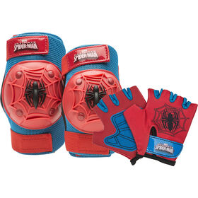 Spider-Man - Kids Bike Pad & Glove Set 2-Pack - Spider-Man
