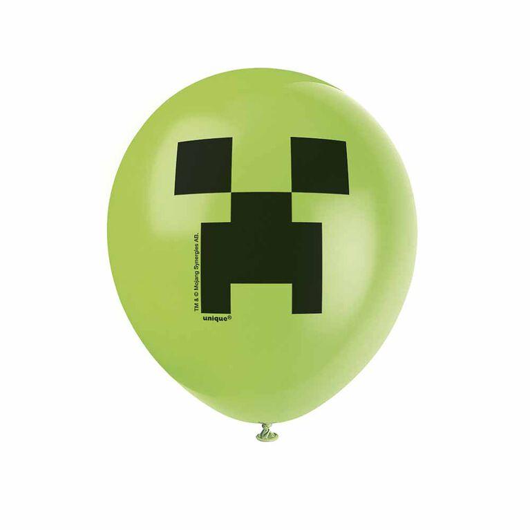 """Minecraft 12"""" Ballons, 8un"""