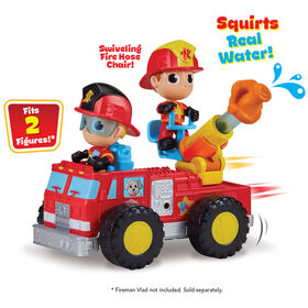 Vlad and Niki - Fire Truck with Firefighter Niki