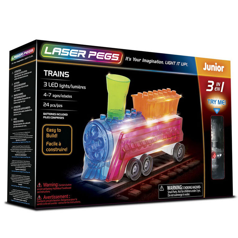 Laser Pegs Trains 3 In 1 Building Set