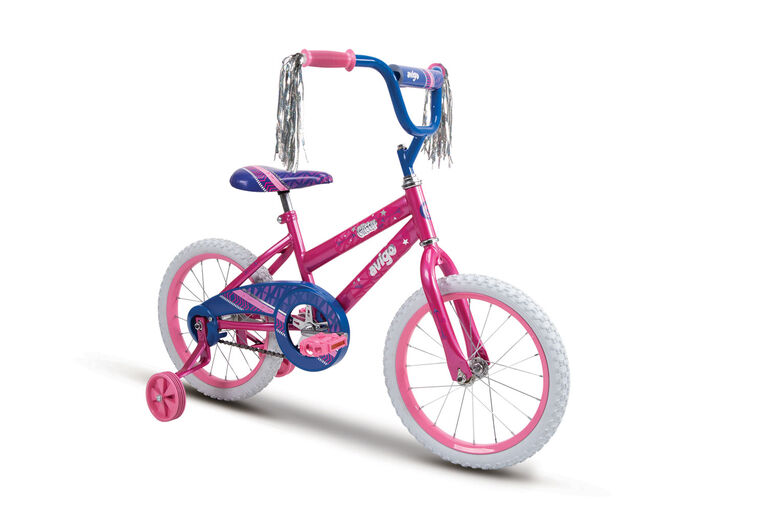 Avigo - Vélo Glitter - Rose vif, 16 pouces