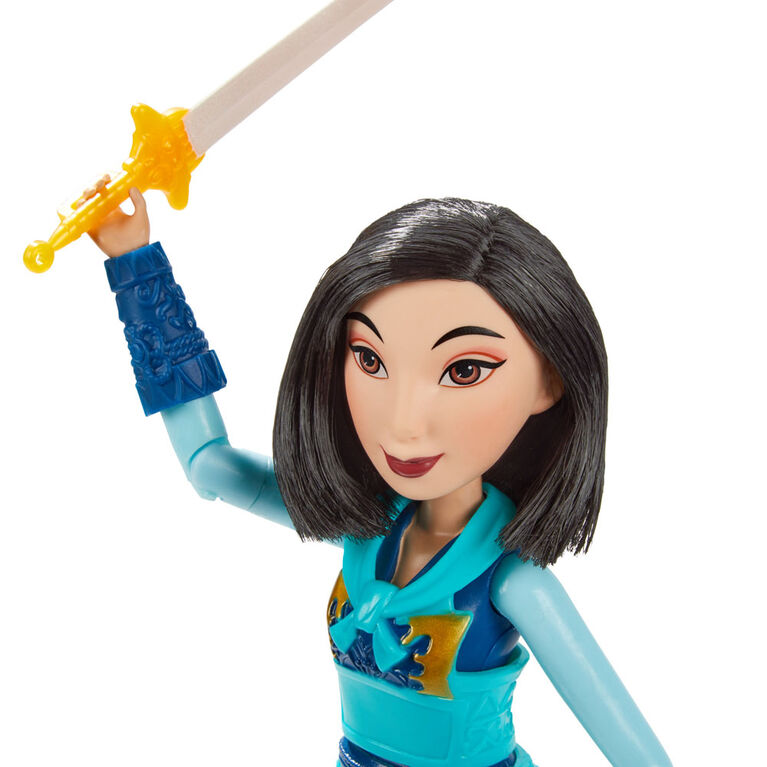 Disney Princess Warrior Moves Mulan Doll