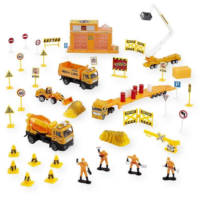 Fast Lane - 1:43 Scale Construction Vehicle Set