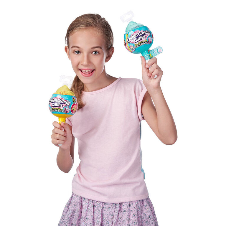 Slime Barbe à papa Oosh Série2 parfumée, extensible avec jouet à collectionner Cutie Slow Rise - Notre exclusivité