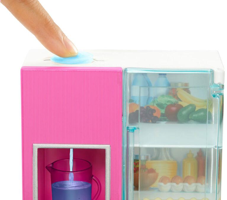 Barbie Doll, Furniture Set, Refrigerator with Working Water Dispenser