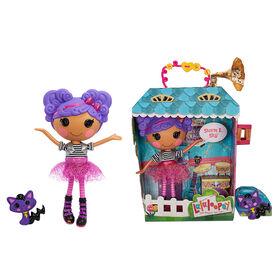 "Lalaloopsy Doll - Storm E. Sky with Pet Cool Cat, 13"" rocker musician purple doll"