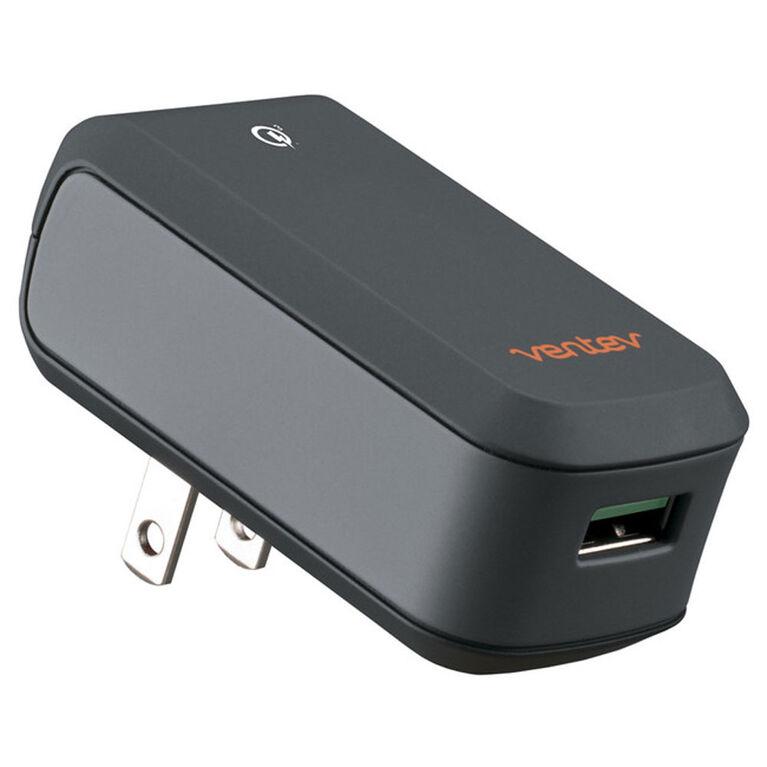 Ventev 563961 Wall Charger Qualcomm 3.0 w/Single USB Port Grey