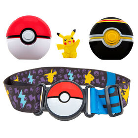 Pokémon - Ensemble de ceinture Clip 'N Go pour ballon Poké - Poké Ball, Luxe Ball et Pikachu no7