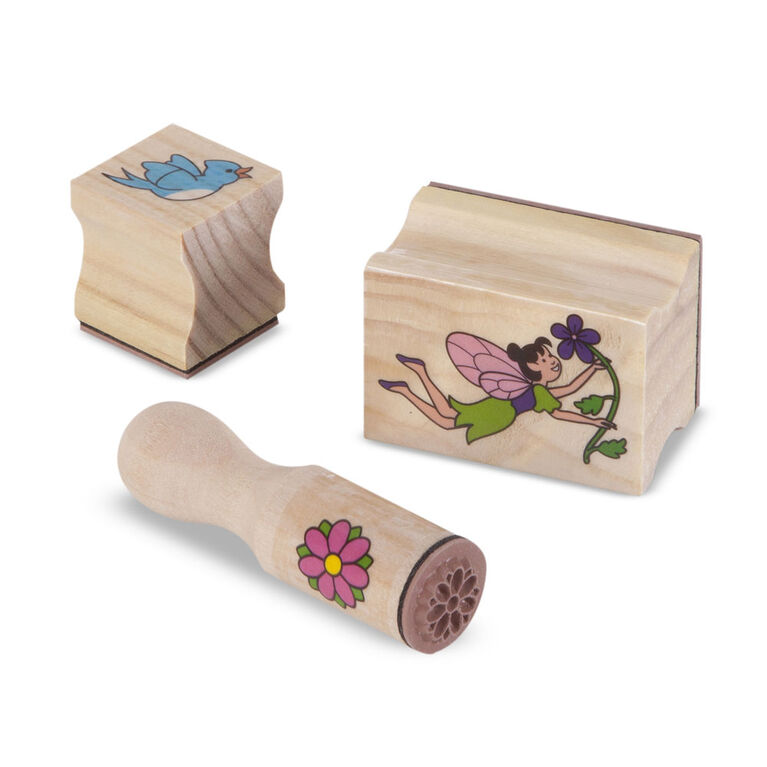 Melissa & Doug Created by Me! Wooden Fairy Garden Stamp Kit