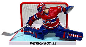 """Patrick Roy Montreal Canadiens 6"""" NHL Figure with Net"""