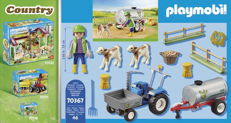 Playmobil - Agriculteur avec faucheuse et citerne