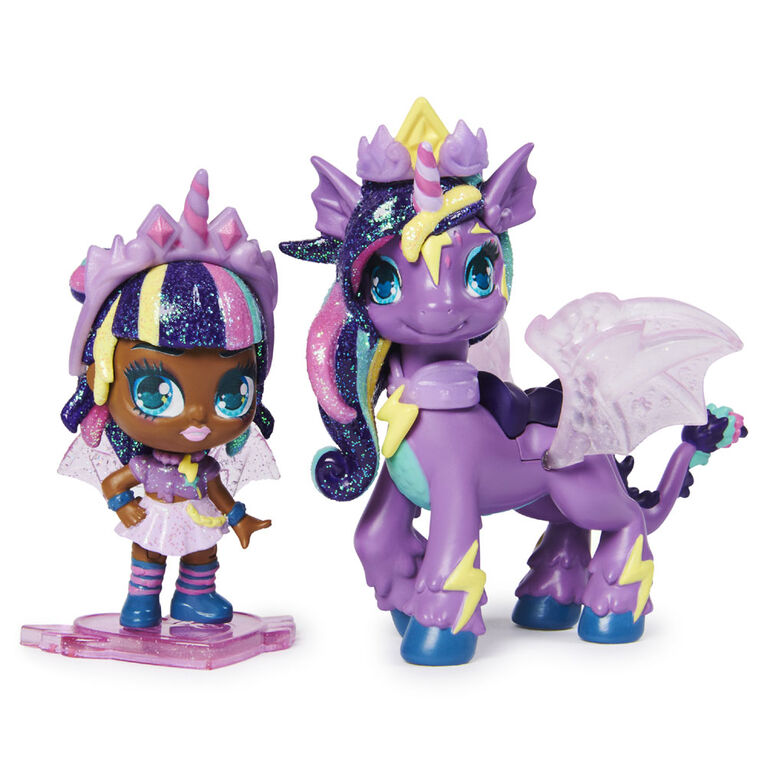 Hatchimals Pixies Riders, Moonlight Mia Pixie and Unicornix Glider Hatchimal Set with Mystery Feature