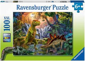 Ravensburger - L'oasis des dinosaures casse-têtes 100pc