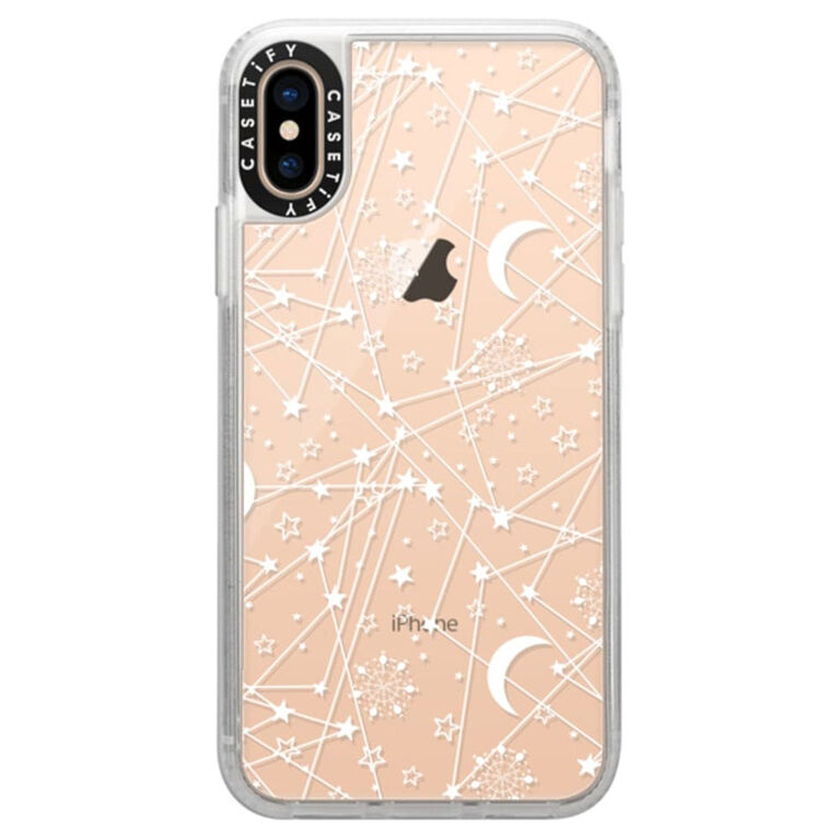 Casetify Grip Case iPhone XS/X Sun Moon Stars Wht