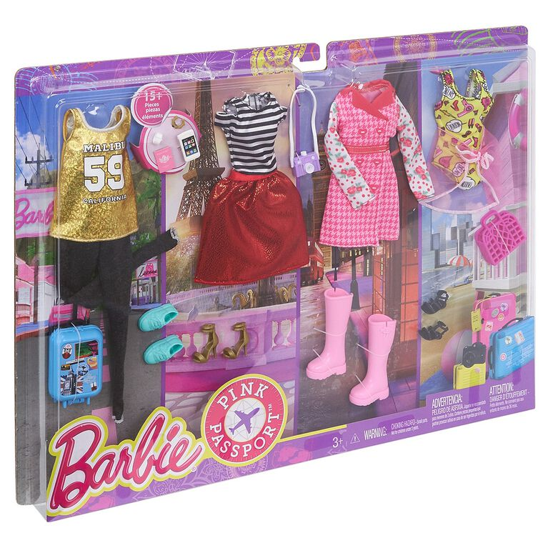 Barbie Pink Passport Destinations Fashion Outfit Pack - R Exclusive