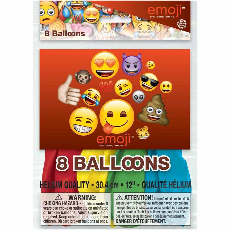 "Emoji 12"" Ballons, 8un"