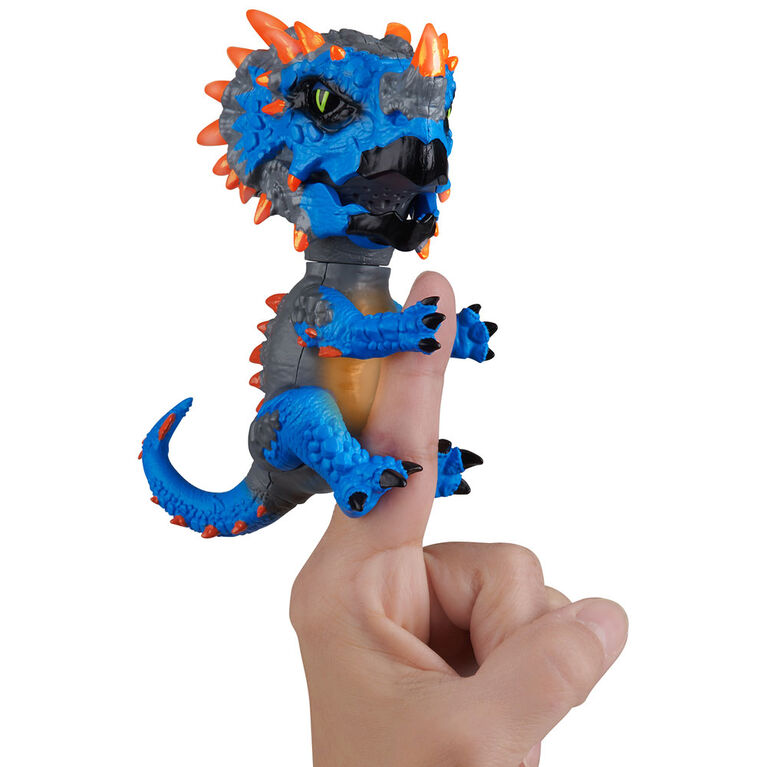 Untamed Radioactive Triceratops - Rampage (Blue) - Interactive Toy