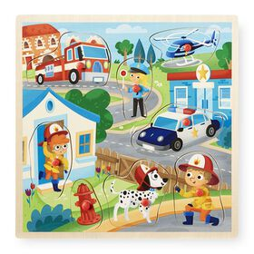 Imaginarium 8 Piece Peg Puzzle - Rescue