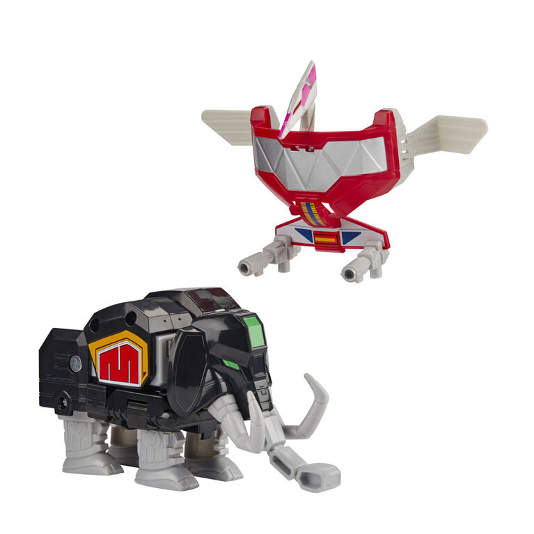 Power Rangers - Mighty Morphin Mastodon Dinozord and Pterodactyl Dinozord Toy 2-Pack Action Figures Part of Dino Megazord